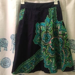 Lilly Pulitzer Cotton knee length pleated skirt